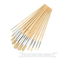 Silverline Round Tip Brush Set 12pce