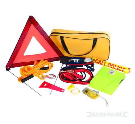 Silverline Car Emergency Kit 9pce