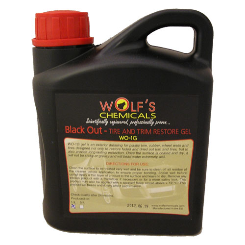 "Wolf's Chemicals ""Black Out"" Tyre Dressing - 1 Litre"